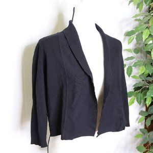 Calvin Klein Silk Cardigan M Open Front Draped